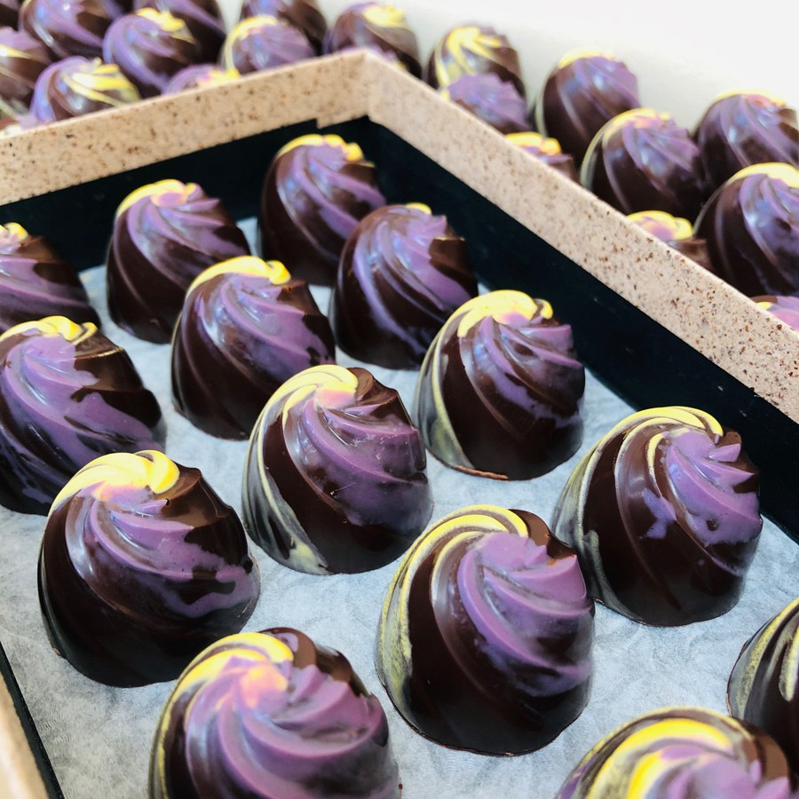 lemon and lavender chocolates