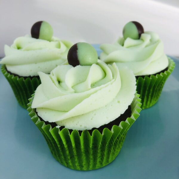 Mint Choc Chip Cupcakes
