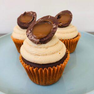 Caramel Egg Cupcakes